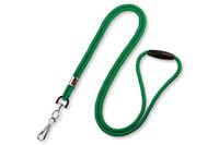 """2137-2004 Green Round 1/8"""" Lanyard W/ Breakaway & Nickel-plated Steel Swivel-hook - Qty. 100"""