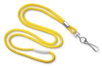 "2137-2009 Yellow Round 1/8"" Lanyard W/ Breakaway & Nickel-plated Steel Swivel-hook - Qty. 100"