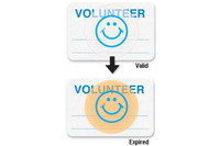 "08109 - Manual School Badge""VOLUNTEER"" - Pkg of 1000"