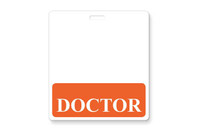 "1350-2132 ""Doctor"" Horizontal Badge Buddies, Orange - Qty. 25"