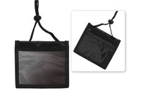 1860-2601 Black 3-Pocket Credential Wallet with Adjustable Neck Cord - Qty. 100