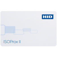 1386LGGNH HID ISOProx II Proximity Card with No External Numbering & Horizontal Slot Punch - Qty. 100