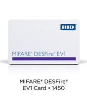 1456NGGNV HID 4K Composite DESFire® EV1 Card, Non-Programmed , No External Numbering, Vert. Slot - Qty 100
