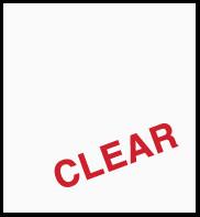 "Clear (Matte) 12"" x 24"""
