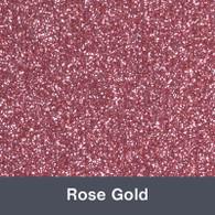 "Iron-on Rose Gold Glitter 19.75"" x 12"""