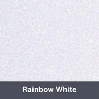 """Iron-on Rainbow White Glitter 19.75"""" x 12"""""""