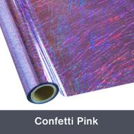 "Confetti Pink Textile Foil 12"" x 1 yd"