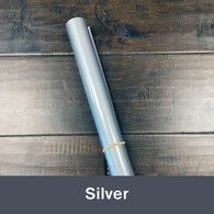 """Iron-on 14.75"""" x 36"""" (1yd) Silver"""