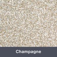 """Iron-on Champagne Glitter 19.75"""" x 12"""""""