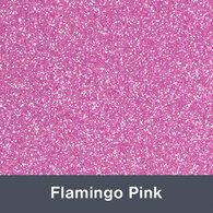 "Iron-on Flamingo Pink Glitter 19.75"" x 12"""