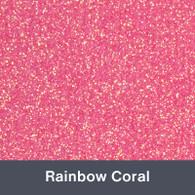 """Iron-on Rainbow Coral Glitter 19.75"""" x 12"""""""