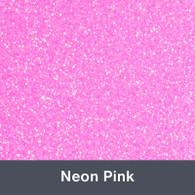 "HTV Neon Pink Glitter 19.75"" x 12"""