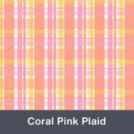 Coral Pink Plaid