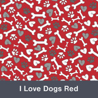 I Love Dogs Red