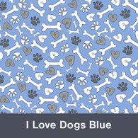 I Love Dogs Blue