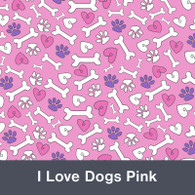 I Love Dogs Pink