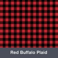"Red & Black Buffalo Plaid MATTE Permanent  Vinyl 12""x  12"""