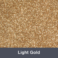 "HTV Light Gold Glitter 19.75"" x 12"""