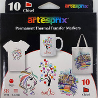 Dye Sublimation Markers - 10 Pack