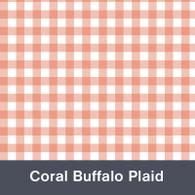 Coral Buffalo Plaid