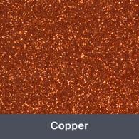 "Iron-on Copper Glitter 19.75"" x 12"""