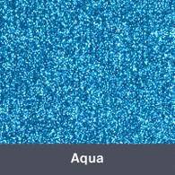 """Iron-on Aqua Glitter 19.75"""" x 12"""""""