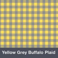 "Yellow and Grey Buffalo Plaid  MATTE Permanent  Vinyl 12""x  12"""