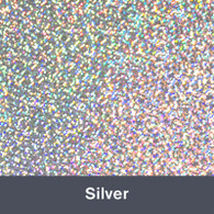 """Iron-on Silver Holographic 9.875"""" x 12"""""""