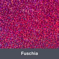 """Iron-on Fuchsia Holographic 9.875"""" x 12"""""""