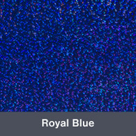 """Iron-on Royal Blue Holographic 9.875"""" x 12"""""""