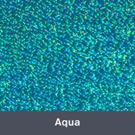 "Iron-on Aqua Holographic 9.875"" x 12"""