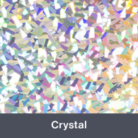 """Iron-on Crystal Holographic 9.875"""" x 12"""""""