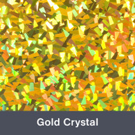 """Iron-on Gold Crystal Holographic 9.875"""" x 12"""""""