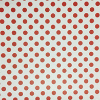 "Red Polka Dot on White (Matte) 12""x24"""