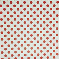 "Red Polka Dot on White (Gloss) 12""x12"""