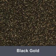 "Iron-on Black Gold Glitter 19.75"" x 12"""