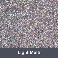 """Iron-on Light Multi Glitter 19.75"""" x 12"""""""
