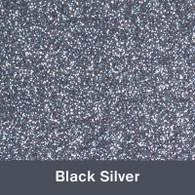 "Iron-on Black Silver Glitter 19.75"" x 12"""