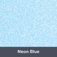 """Iron-on Neon Blue Glitter 19.75"""" x 12"""""""