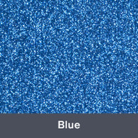 "Iron-on Blue Glitter 19.75"" x 12"""