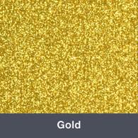 """Iron-on Gold Glitter 19.75"""" x 12"""""""