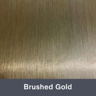 """Brushed Gold 12"""" x 24"""""""