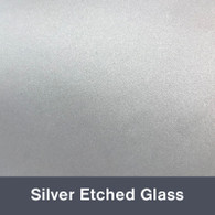 """Silver Etched Glass 12"""" x 24"""""""