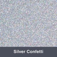 """Iron-on Silver Confetti Glitter 19.75"""" x 12"""""""