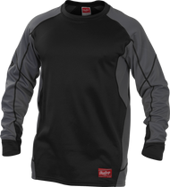 Rawlings Adult Dugout Fleece Pullover Black