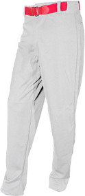 Baseball Youth Pants White with Red Belt