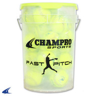 "Champro 11"" Fast Pitch -Durahide Cover; PU Cor- Bucket W/2 Dozen (CSB-GFP11X)"