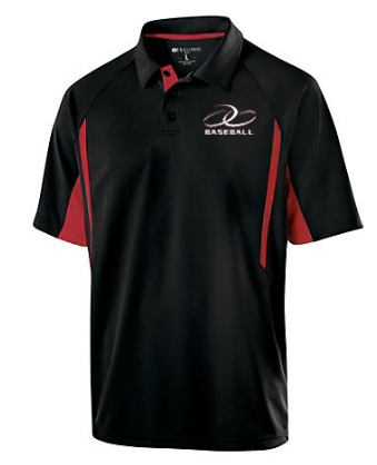 JGB Baseball Black and Red Polo