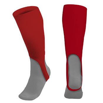 7inch Baseball Stirrup Sock Solid Scarlet