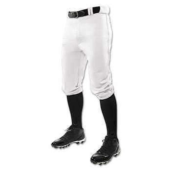 White Baseball Knicker Pants